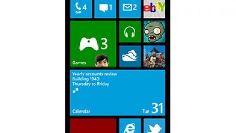 Windows Phone 8 screen