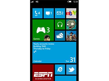 Windows Phone 8 Screen