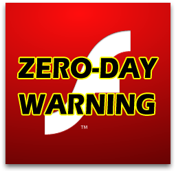 Flash zero day warning